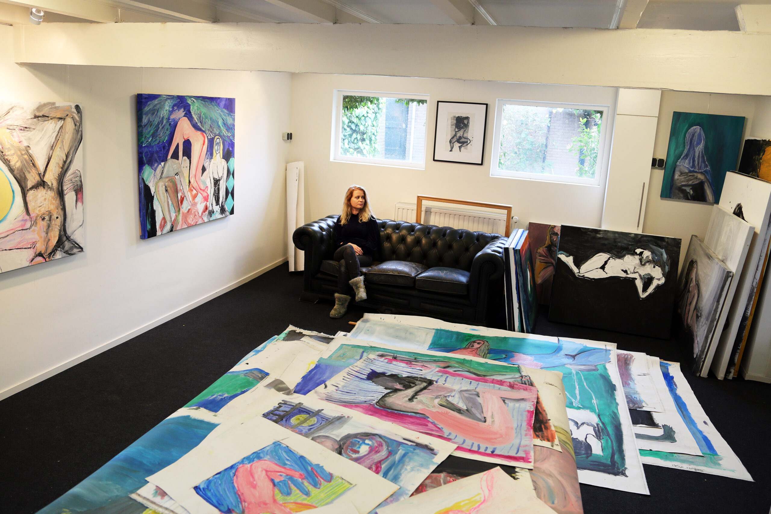 Nua Collective Artist - Jennifer Smith - In CloverMill Gallery space