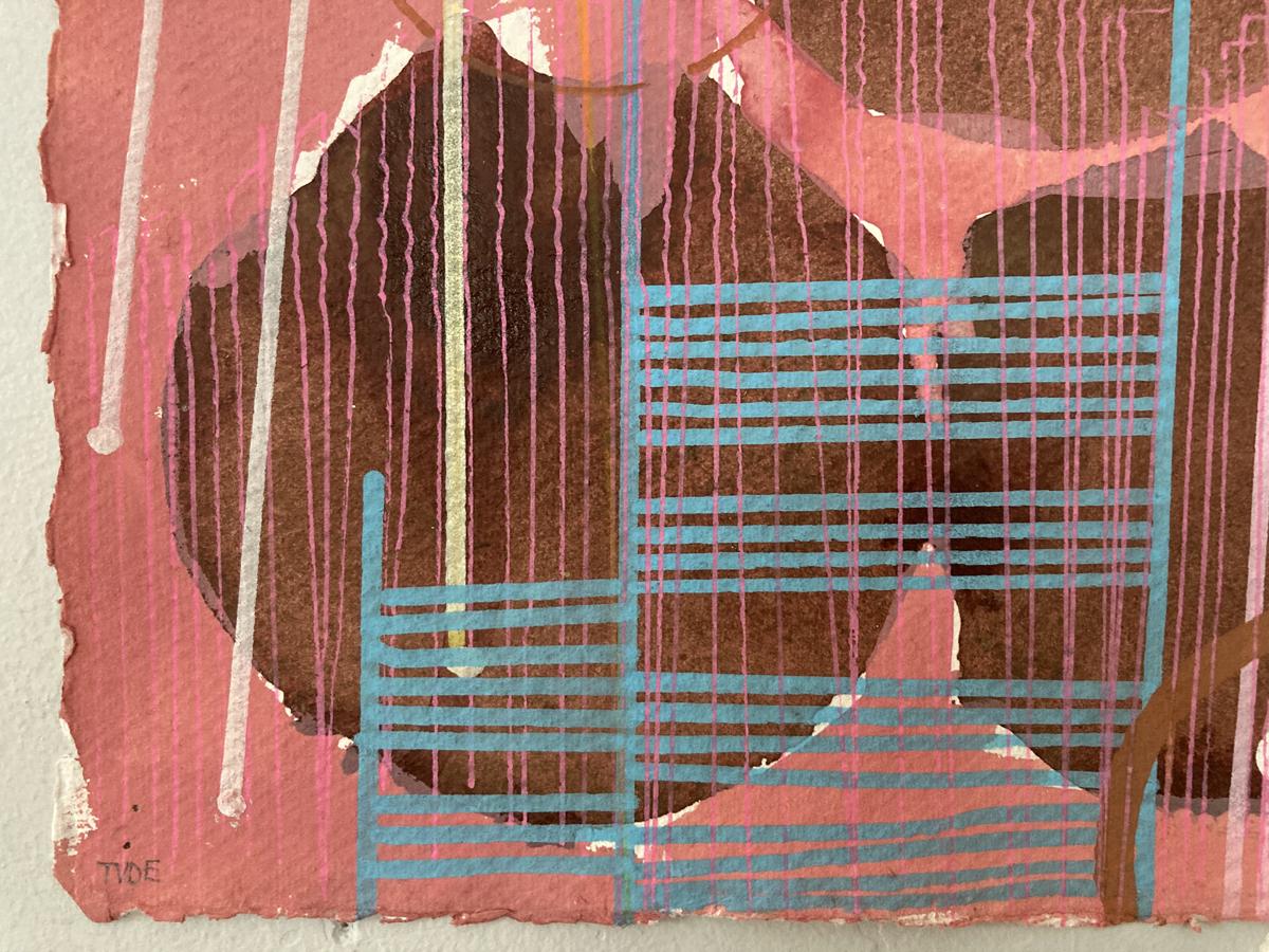 9.TVDE,XR series4,acrylic on paper, 30x30cm-Nua-Collective