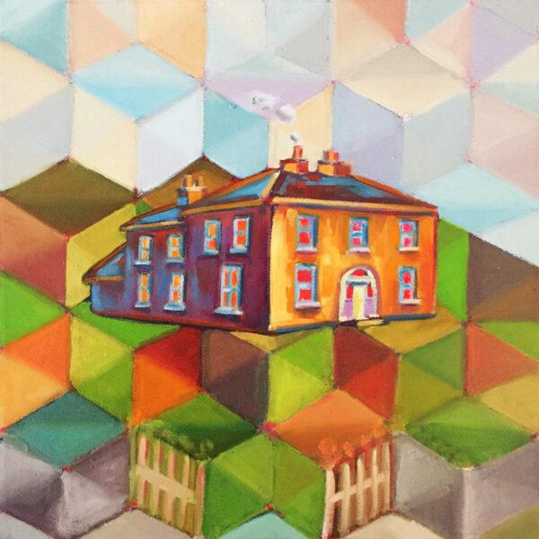 Alkalart_Ted-House2_Acrylic-and-oils-on-canvas_25x25cm-Nua-Collective