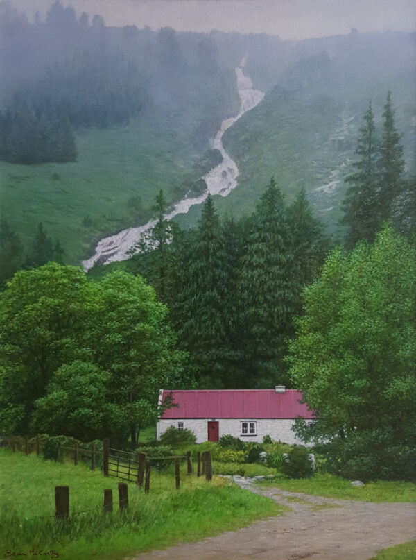 Carawaystick Waterfall in Glenmalure Wicklow - Brian McCarthy - Nua Collective - Artist