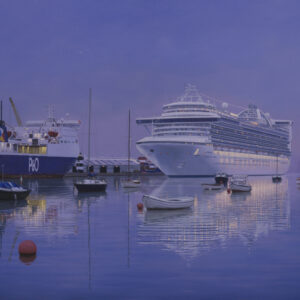 Carribbean Princess at Dublin Port - Brian McCarthy - Nua Collective - Artist