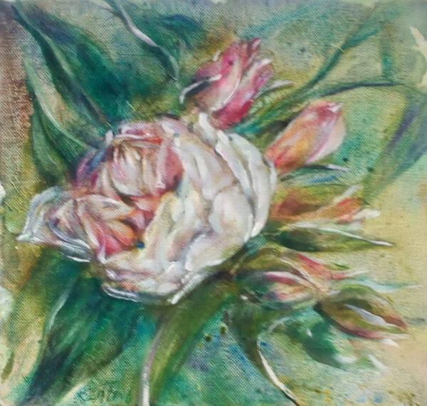 Flower study - oil on canvas - John Keating - Nua Collective - 2020