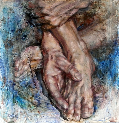 Hands-feet-oil-on-canvas-deep-edge-John-Keating-Nua-Collective-Artist