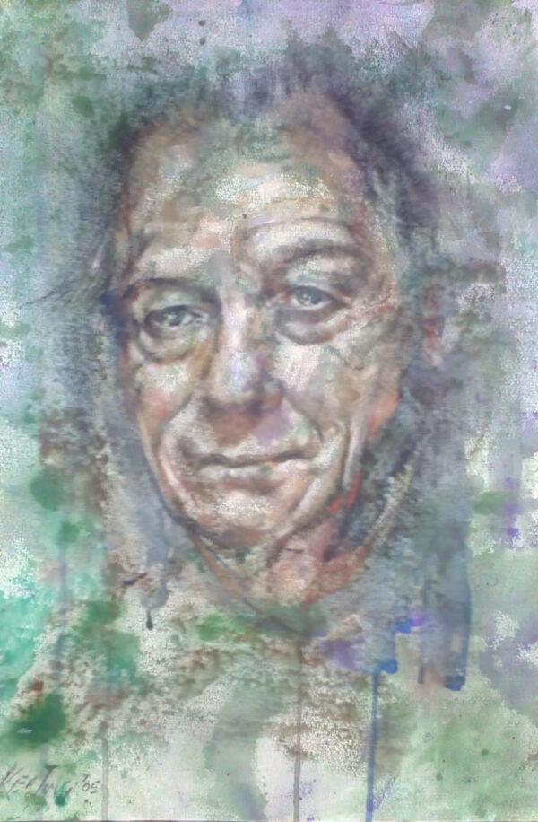 Head - Mixed Media on Paper - John Keating - Nua Collective