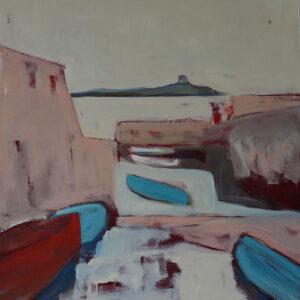 Joes Boat, Oil on canvas, 80cm x 80cm, 2019 - Nua Collective - Artist