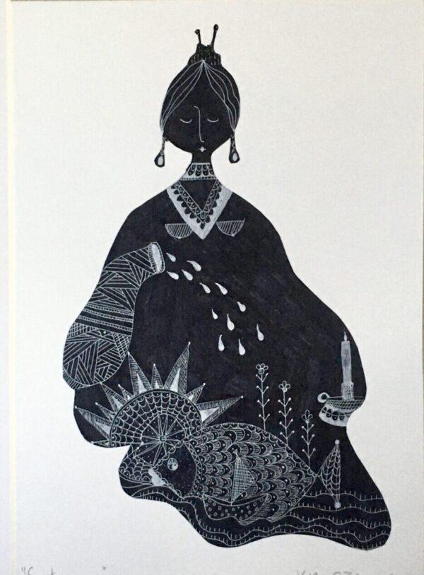 Kira O Brien - Sustenance Pen & Ink drawing H40cm x W30cm - Nua Collective - Artist