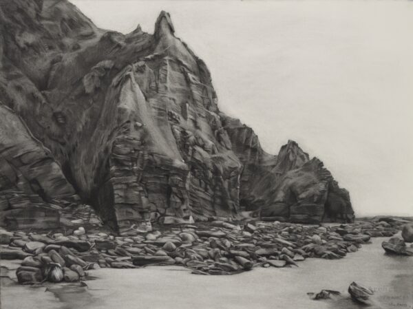 Nua Collective - Artist - Lelia Henry - Minaun - Charcoal on Arches paper