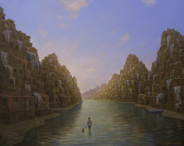 Lone Child in Grand Canal - Brian McCarthy - Nua Collective - Artist