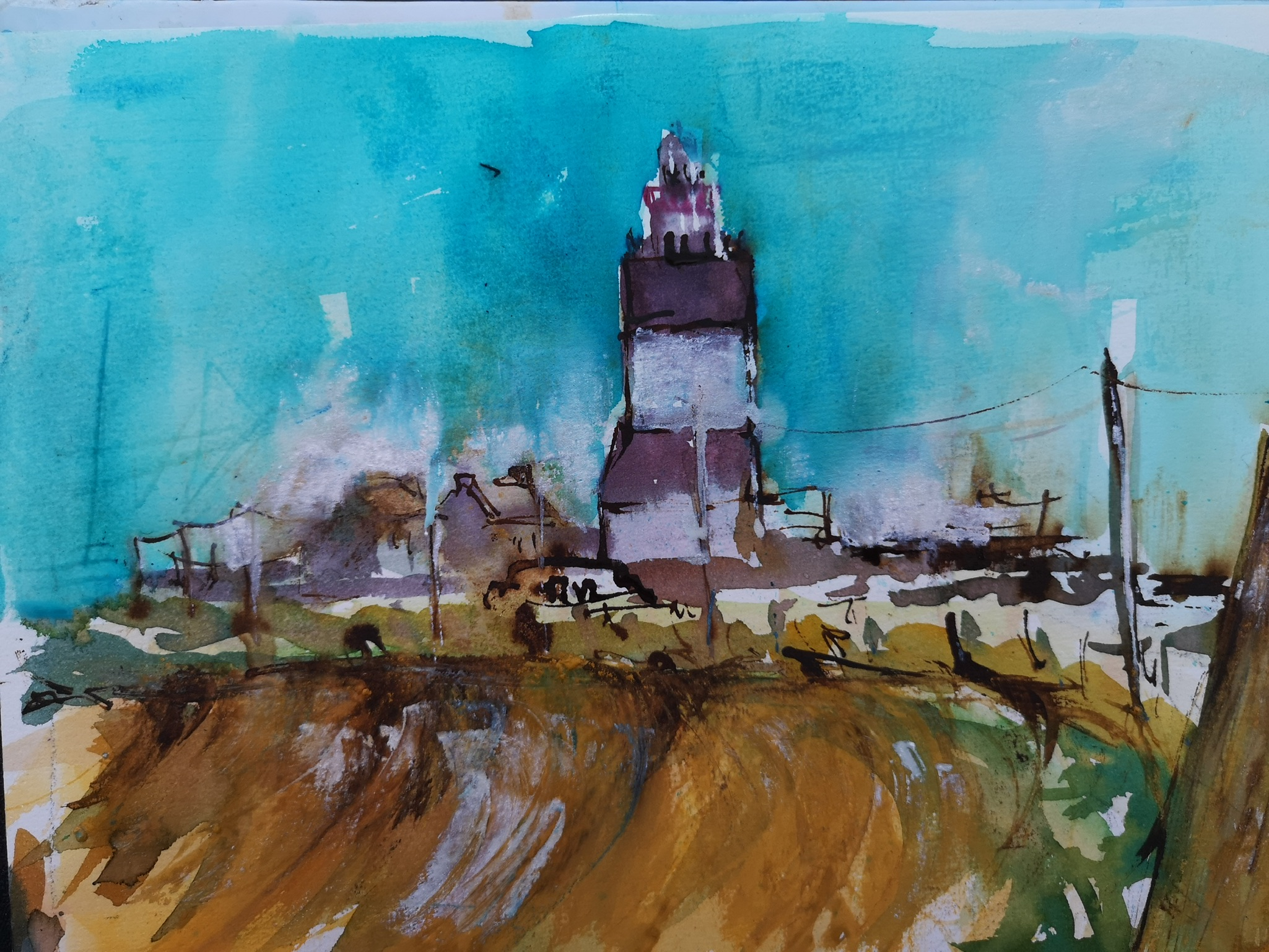 Mairead Holohan - Lighthouse - Watercolour - Nua Collective - Artist