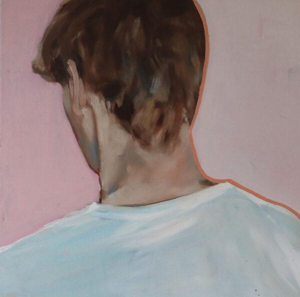 Portrait of a son. Oonagh Latchford. Oil on Canvas, 80cm x 80cm, 2019-Nua-Collective