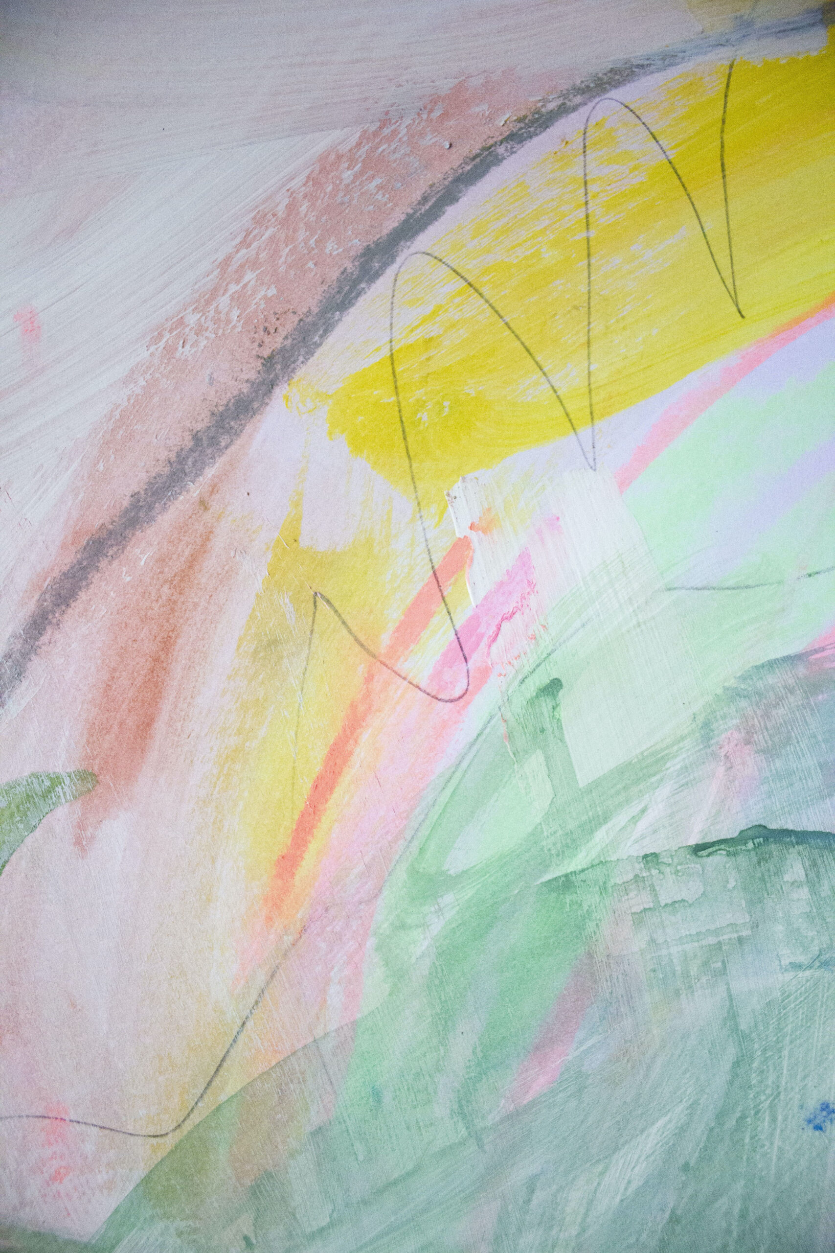 Róisín Bohan, Fluctuating Feelings 1 (Detail 1), Acrylic, Pastel and Pencil on Paper, 2019