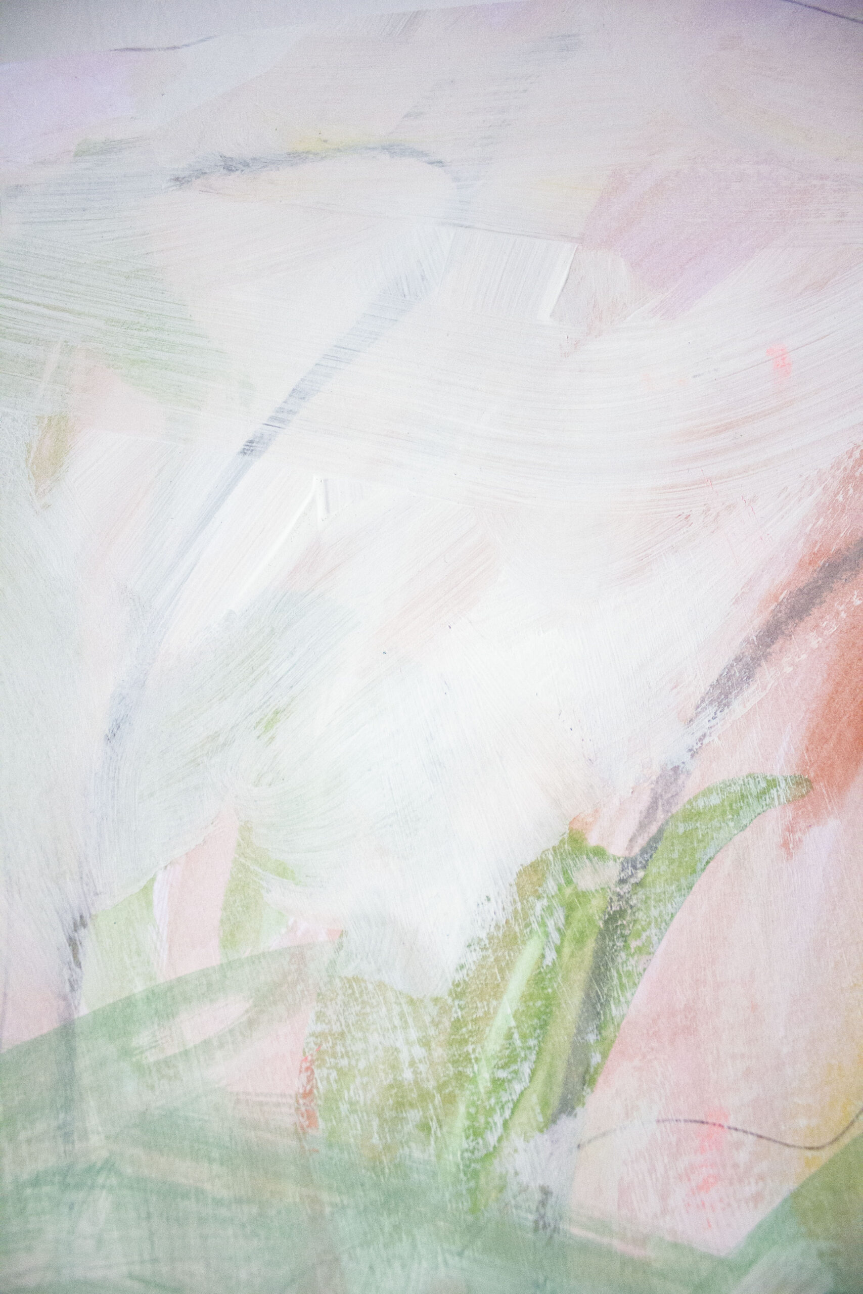 Róisín Bohan, Fluctuating Feelings 1 (Detail 2), Acrylic, Pastel and Pencil on Paper, 2019
