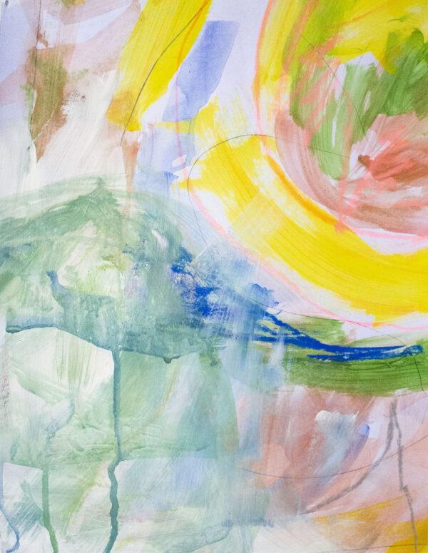 Róisín Bohan, Fluctuating Feelings 4, Acrylic, Pastel and Pencil on Paper, 2019 - Nua Collective - Artist