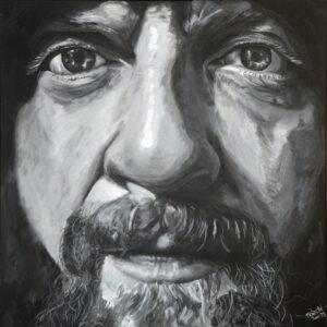 TerryOBrien BrianD 100cm x 100cm acryic on canvas 2015 - Nua Collective - Artist