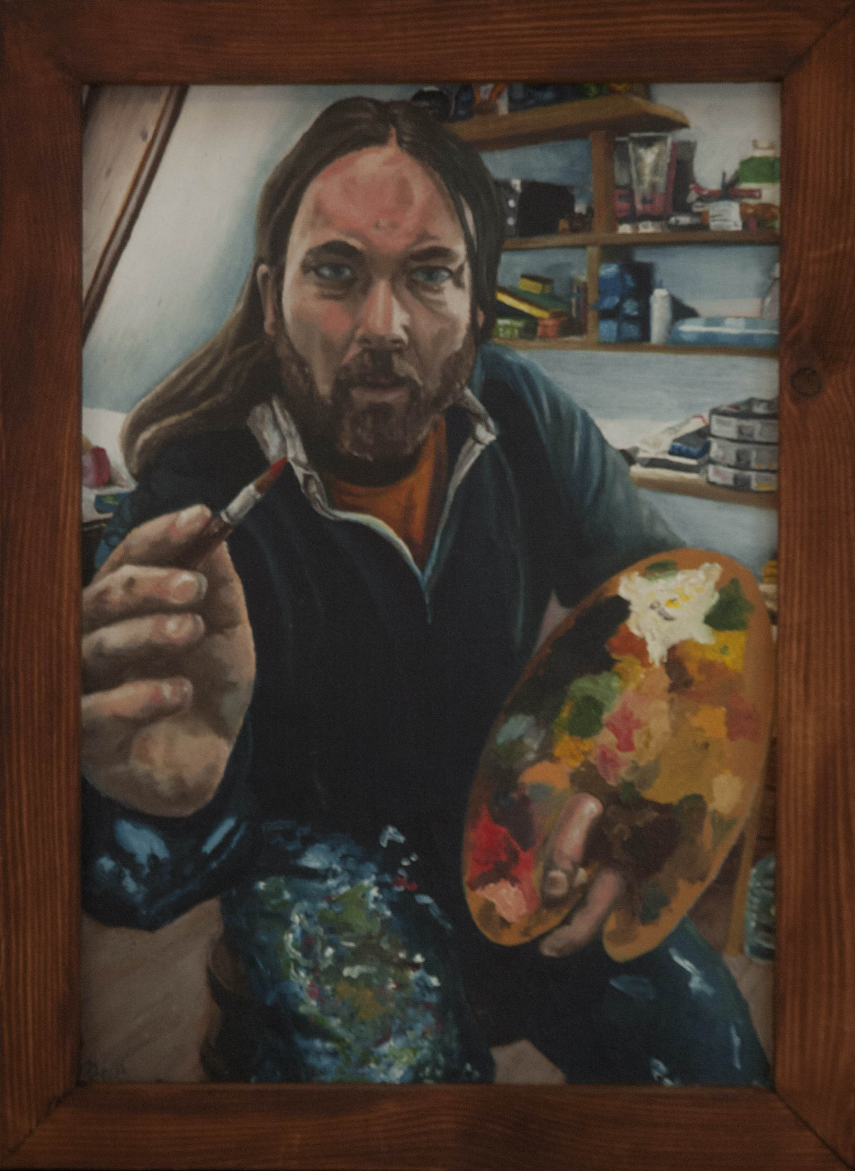 TerryOBrien Painting Perspective Framed oil on board 35cm x 48cm 2018 - Nua Collective - Artist