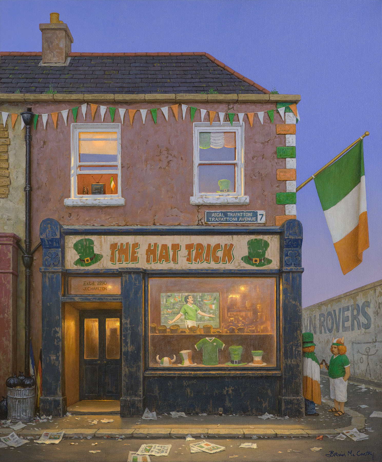 The Hat Trick Pub - Brian McCarthy - Nua Collective - Artist