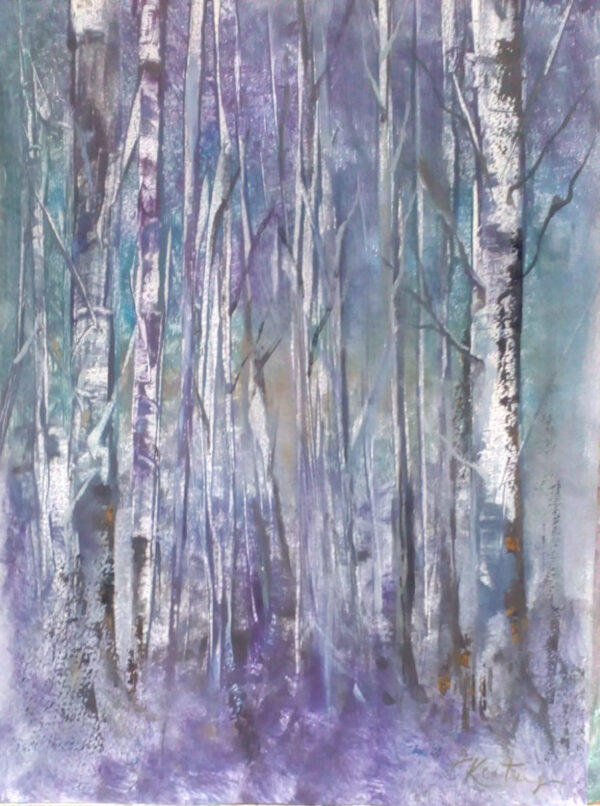 Tree's in Winter - Monotype on Paper - John Keating - Nua Collective - Artist
