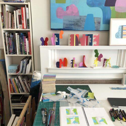 Nua Collective - Artist - Mary O' Connor - In Studio