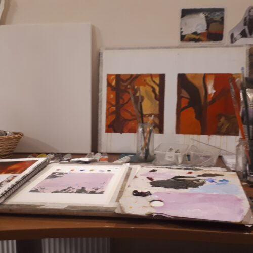 Nua Collective - Artist - Irene O'Neill - Studio Shot