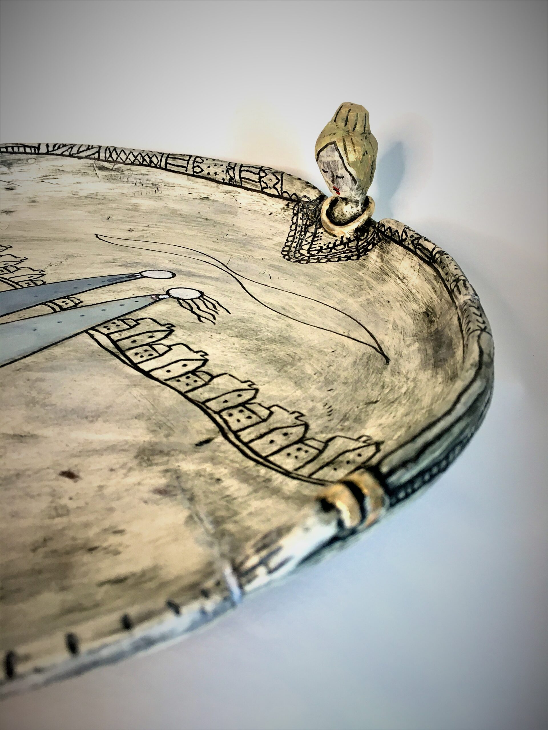 Kira O Brien This All Encompassing Love Large Plate W33cm x H5.5cm €425-Nua-Collective