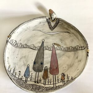 Kira O Brien Loving From Afar Large Free Standing Platter W33cm x H5.5cm €495 - Nua Collective