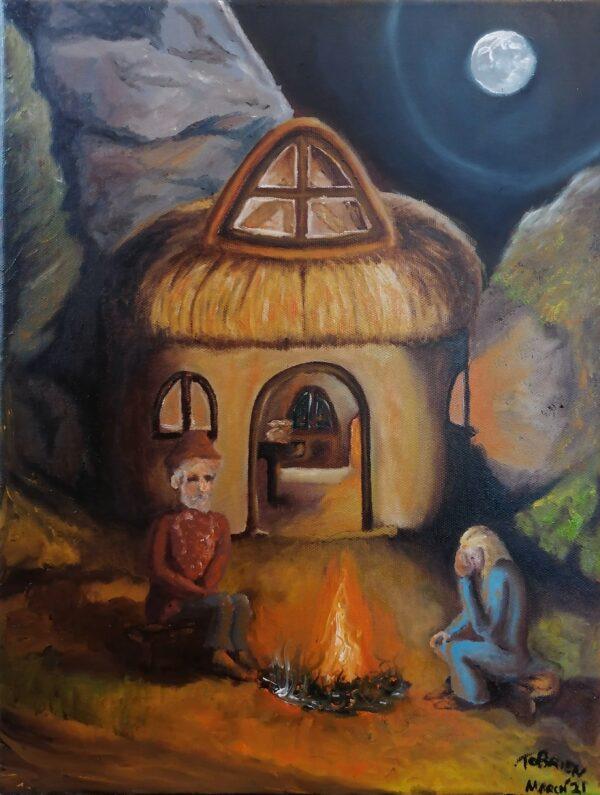 Terry O'Brien Firelight on Equinox 30cm x 40cm Oil On Canvas - Nua Collective - Artist